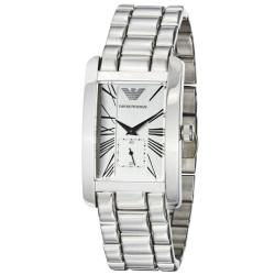 Emporio Armani Men's 'Classic' Silver Dial Stainless Steel Watch