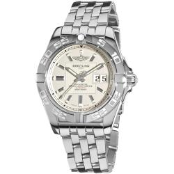 Breitling Men's 'Galactic' Silver Dial Stainless Steel Automatic Watch