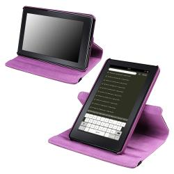 Purple 360-degree Leather Swivel Case Version 2 for Amazon Kindle Fire
