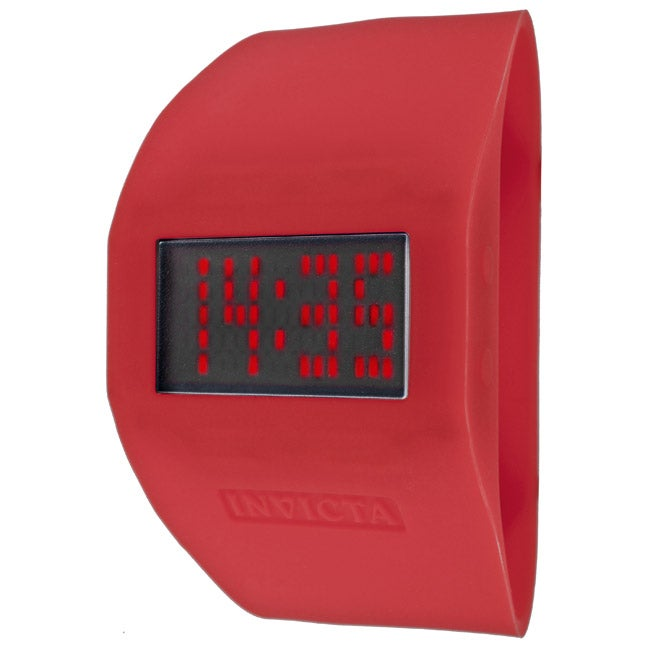 Invicta 'Specialty' Red Silicone Watch
