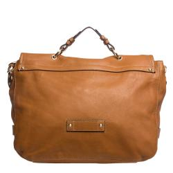 Mulberry Camel Leather Satchel Bag