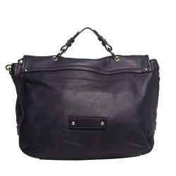 Mulberry Oversized Navy Leather Satchel Handbag