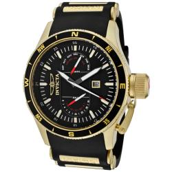 Invicta Men's 'Aviator' Black Polyurethane Watch
