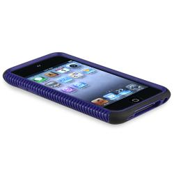 Blue/ Black Hybrid Case for Apple iPod Touch 4th Generation