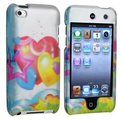 Cartoon Heart Snap-on Case for Apple iPod Touch 4th Generation