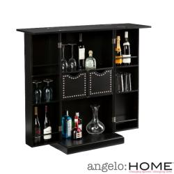 angelo:Home Beekman Black Fold Away Bar