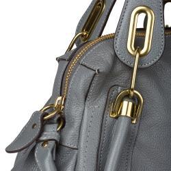 Chloe \u0026#39;Paraty\u0026#39; Small Grey Leather Satchel - 14202826 - Overstock ...