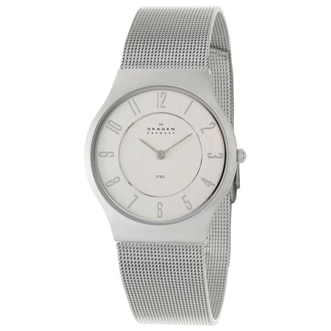 Skagen Men's 'Mesh' Stainless Steel Quartz Watch