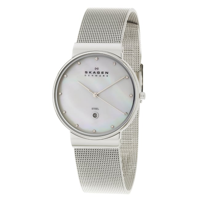 Skagen Women's 'Mesh' Stainless Steel Crystals Watch