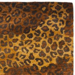 Safavieh Handmade Leopard Gold/ Rust Hand-spun Wool Rug (2'3 x 10')