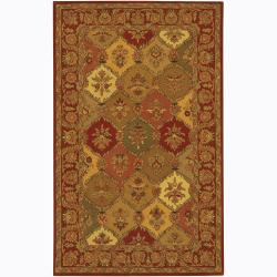 Hand-Tufted Multicolored Transitional Mandara Wool Rug (5' x 7'6)