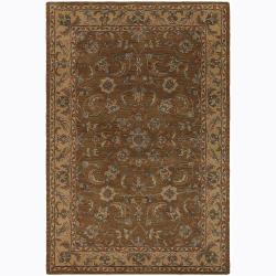 Hand-tufted Mandara Floral Wool Rug (5' x 7'6)