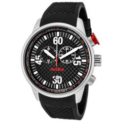 Red Line Men's 'Tech' Black Textured Silicone Watch