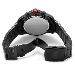 Red Line Men's 'Racer' Black Ion-Plated Stainless Steel Watch