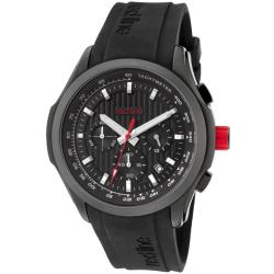 Red Line Men&#39;s &#39;Starter&#39; Black Silicone Watch