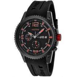Red Line Men's 'Boost' Black Silicone Watch