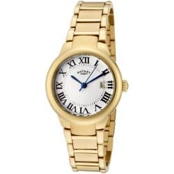 Rotary Women's 'Savannah' Goldtone Stainless Steel Watch