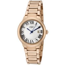 Rotary Women's 'Savannah' Rose Goldtone Stainless Steel Watch