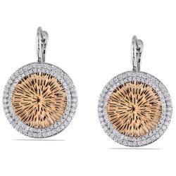 Miadora 14k Two-tone Gold 1ct TDW Diamond Dangle Earrings (G-H, SI1-SI2)