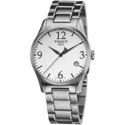 Tissot Men's T0284101103700 'T-Classic' White Dial Stainless Steel Quartz Watch