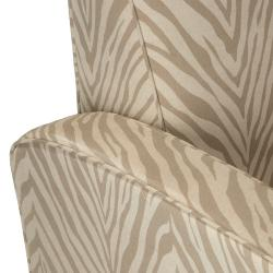 Christopher Knight Home Maurice Zebra Grey Fabric Club Chair