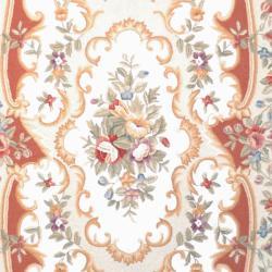 Safavieh Hand-hooked Aubusson Ivory/ Rose Wool Rug (5'3 x 8'3)