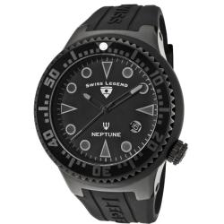 Swiss Legend Men's 'Neptune' Black Silicone Watch