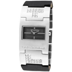 Ted Lapidus Women's Black Leather Watch
