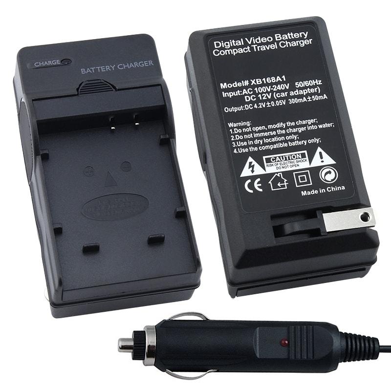 BasAcc Compact Battery Charger Set for Panasonic CGA-S005E
