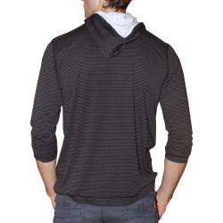 191 Unlimited Men's Brown Stripe Pullover Hoodie
