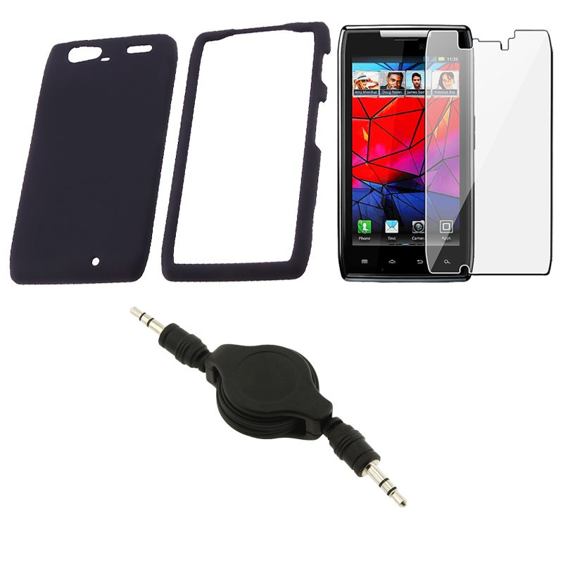 Case/ Screen Protector/ Audio Cable for Motorola Droid RAZR Maxx XT916