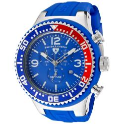 Swiss Legend Men's 'Neptune' Blue Silicone Watch