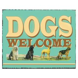Handpainted 'Dogs Welcome' Sign (Mexico)