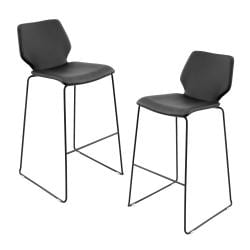 Black Orson Barstools (Set of 2)