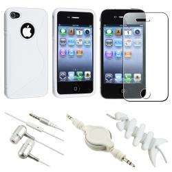 White Case/ LCD Protector/ Headset/ Wrap/ Cable for Apple iPhone 4S