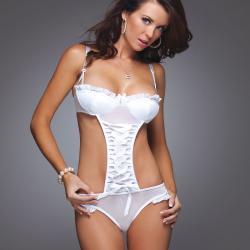 Women's Lingerie White Teddy