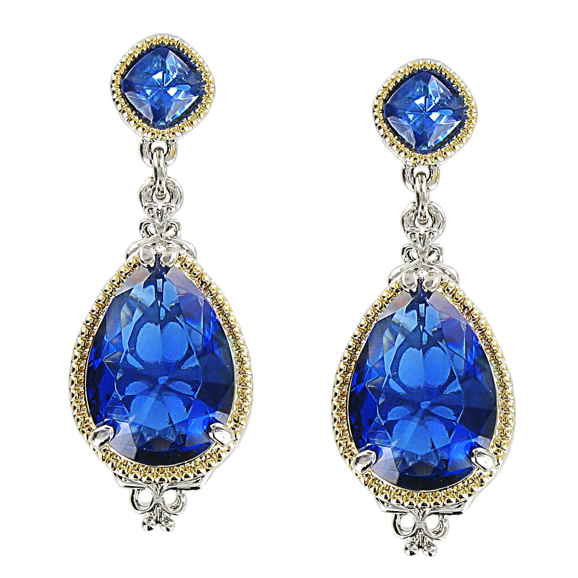 Blue Water Crystal Stone Earrings