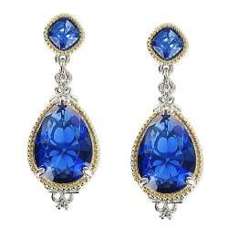 Blue Water Crystal Stone Earrings