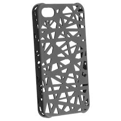 BasAcc Smoke Bird Nest Rubber Coated Case for Apple iPhone 4/ 4S