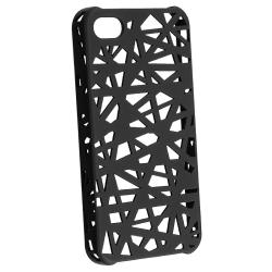 BasAcc Black Bird Nest Rubber Coated Case for Apple iPhone 4/ 4S