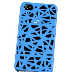 BasAcc Blue Bird Nest Rubber Coated Case for Apple iPhone 4/ 4S