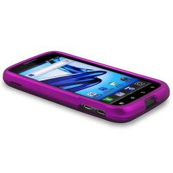 Purple Case/ Screen Protector/ HDMI Cable for Motorola MB865 Atrix 2