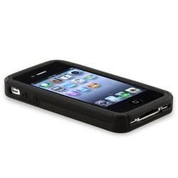 BasAcc Black/ Smoke Checker Hybrid Case for Apple iPhone 4/ 4S