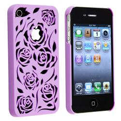 BasAcc Dark Purple Rose Snap-on Case for Apple iPhone 4/ 4S