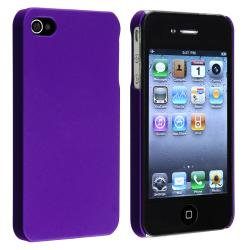 BasAcc Purple Rear Snap-on Rubber Coated Case for Apple iPhone 4/ 4S