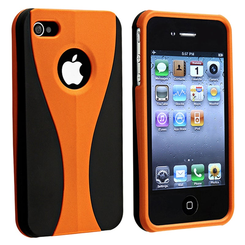 BasAcc Orange Cup Shape Rubber Coated Case for Apple iPhone 4/ 4S