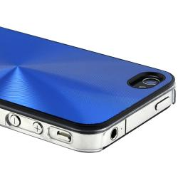BasAcc Blue Aluminum Snap-on Case for Apple iPhone 4/ 4S