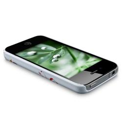 LUXMO White Snap-on Rubber Coated Case for Apple iPhone 4/ 4S