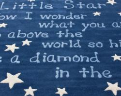 Handmade Luna Kids Lullaby and Stars Wool Area Rug (3'6