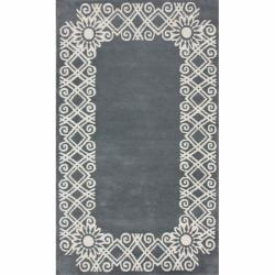 nuLOOM Handmade Fence Wool Rug (5' x 8')